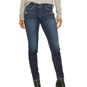 Silver Jeans Elyse Skinny High Rise Dark Wash